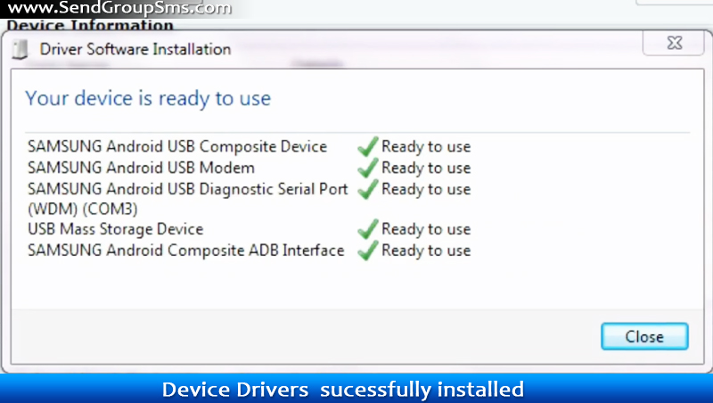 samsung android usb diagnostic serial port driver