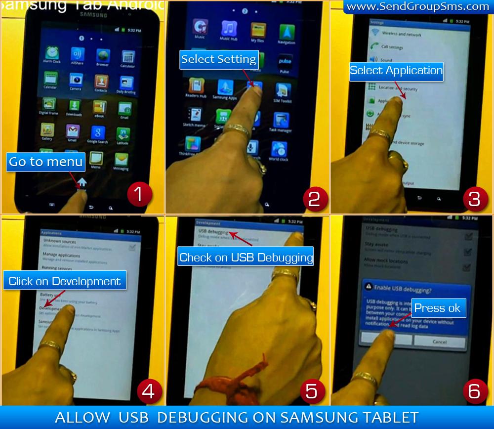how to turn on usb debugging on samsung tab 3